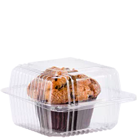 Muffin in StayLock® Container with a hinged lid
