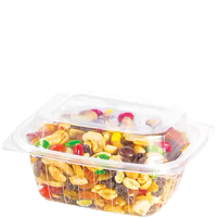 Trail mix in ClearPac® Container with dome Lid