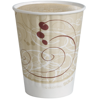 Hot cappuccino in Duo Shield® cup