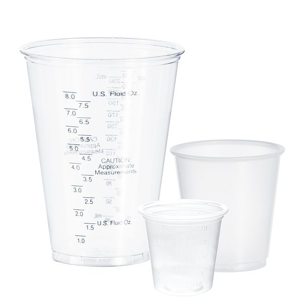 Plastic Medical and Dental Cups