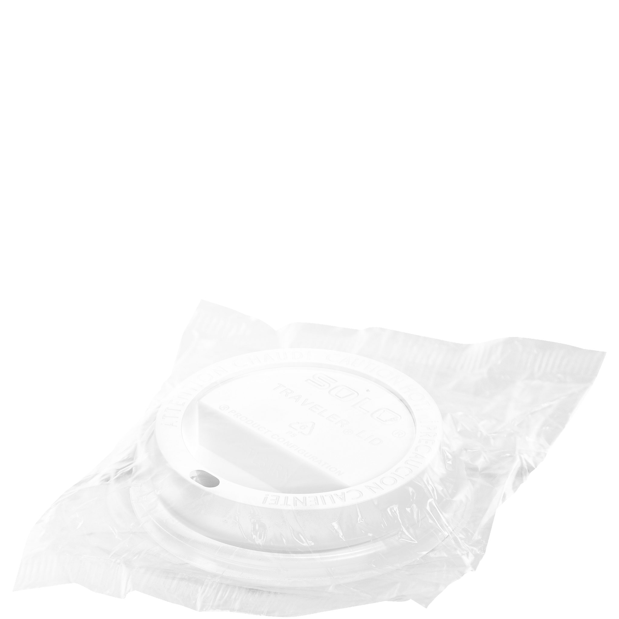 Wrapped Cappuccino Style Dome Lid